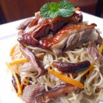 STIR FRY WONTON NOODLES WITH ROASTED DUCK