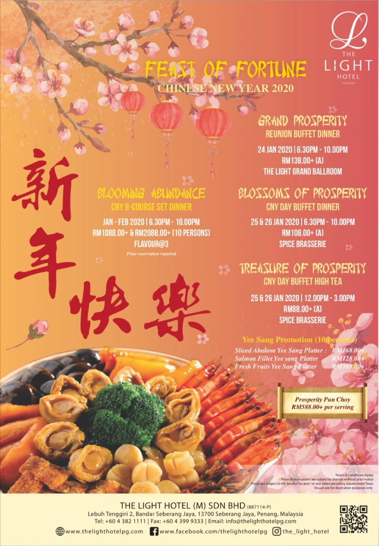 Feast Of Fortune Chinese New Year Festive Buffet 2020 At The Light Hotel Penang The Light Hotel Seberang Jaya Penang Criz Bon Appetite