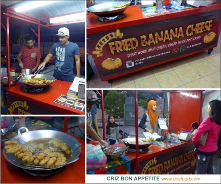 A Different Kind Of Banana Fritters At Rutd S Fried Banana Cheese Plaza Ivory Penang Criz Bon Appetite